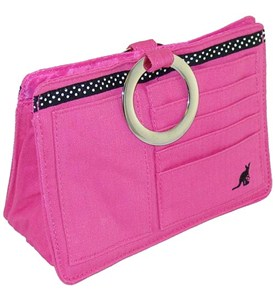 Pouchee Purse Organizer - Pink Cotton Image