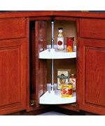 24 Inch Cabinet Lazy Susan - White - Door-Mounted