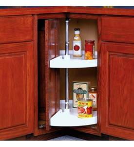 28 Inch Cabinet Lazy Susan - White - Door-Mounted Image