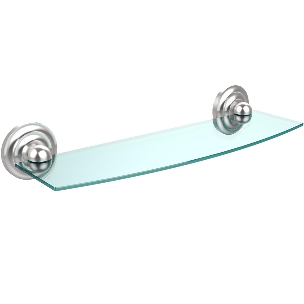 Glass Bathroom Shelf Prestige Beveled Glass Bath Shelf 18 Inches In Bathroom Shelves