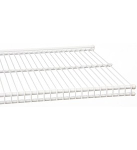 freedomRail 12 Inch Profile Wire Shelving - White Image
