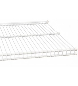 freedomRail 16 Inch Profile Wire Shelving - White Image