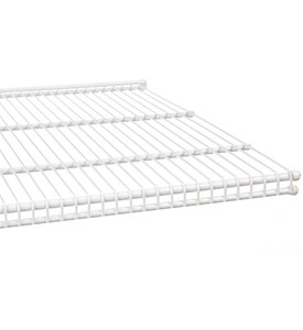 freedomRail 20 Inch Profile Wire Shelving - White Image