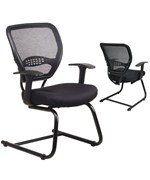 Professional AirGrid Back Visitors Chair with Mesh Seat by Office Star