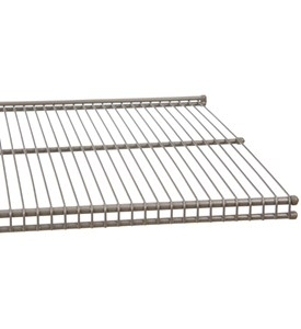 freedomRail 12 Inch Profile Wire Shelving - Nickel Image