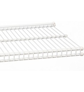 freedomRail 9 Inch Profile Wire Shelving - White Image