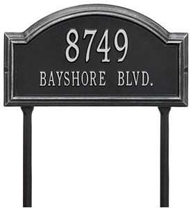 Providence Arch Lawn Address Plaque Image