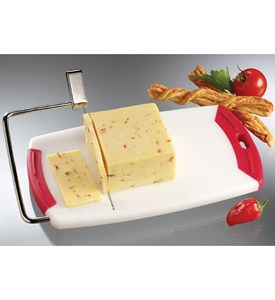 Cheese Slicer and Cutting Board - White Image