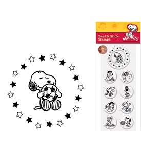 Custom Rubber Stamps Inserts - Peanuts Gang (Set of 9) Image