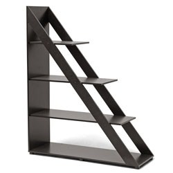 Psinta Dark Brown Modern Shelving Unit by Wholesale Interiors Image
