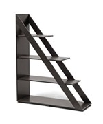 Psinta Dark Brown Modern Shelving Unit by Wholesale Interiors