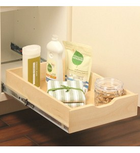 Wood Pull-Out Cabinet Shelf Image