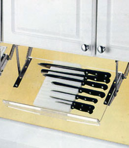 Under Cabinet Knife Rack in Kitchen Utensil Holders