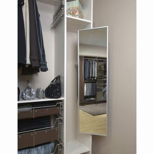 Fold Away Closet Mirror In Custom Closet Accessories