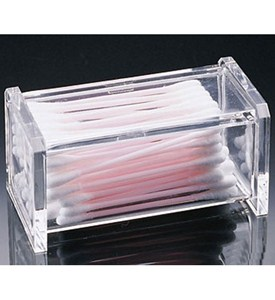 Acrylic Cotton Swab Holder Image