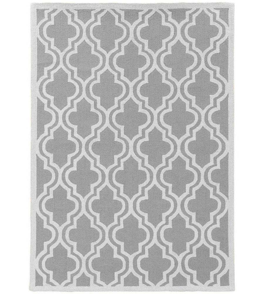 Quatrefoil Gray Area Rug In Patterned Rugs