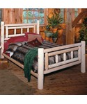 Deluxe Cedar Log Bed by Rustic Natural Cedar