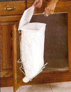 Old Rack Sack Kitchen Trash System In Cabinet Trash Cans
