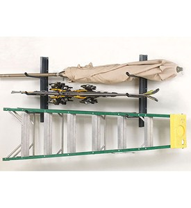 Wall Mount Multi-Hook Garage Storage Rack Image