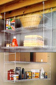 Rafter Solution Rack In Overhead Garage Storage