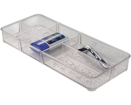Rain vanity drawer cosmetic storage tray in cosmetic for Bathroom tray organizer
