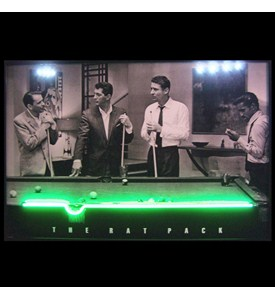 Rat Pack Neon LED Art Picture Image