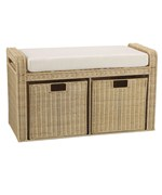 Rattan Storage Seat - Natural by Household Essentials