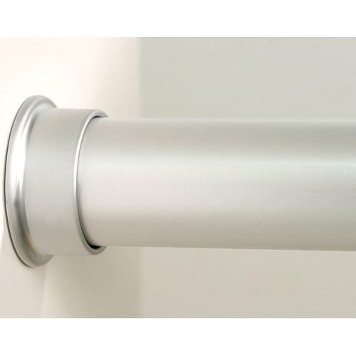 Custom Size Closet Rod   Brushed Silver