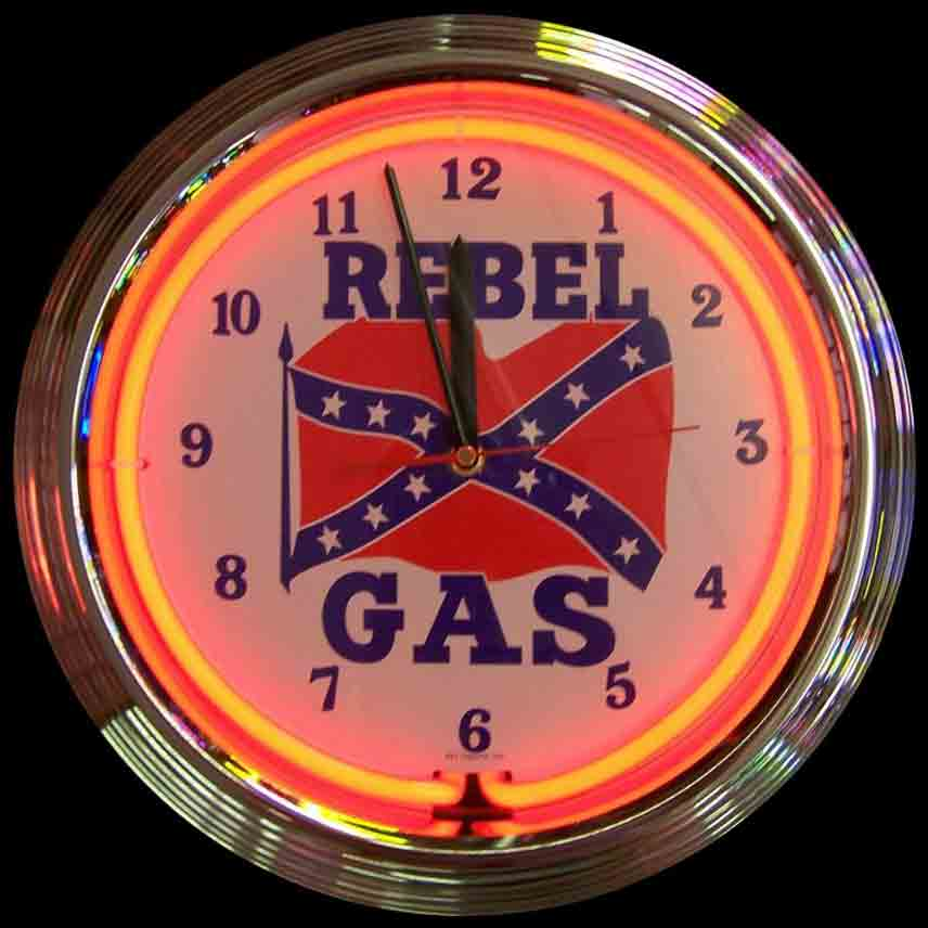 Rebel Gas Neon Clock by Neonetics in Wall Clocks