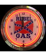 Rebel Gas Neon Clock by Neonetics