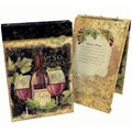 Recipe Book Binder - Gilded Wine
