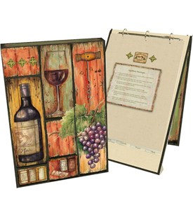 Recipe Book Binder - Wine Country Image