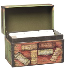 Recipe Card Box - Wine Country Image