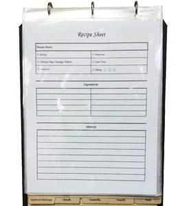Recipe Sheet Protectors (Set of 12) Image