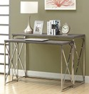 Reclaimed Look / Chrome Metal 2PCS Console Tables by Monarch Specialties