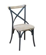 Reclaimed Wood and Metal Dining Chairs