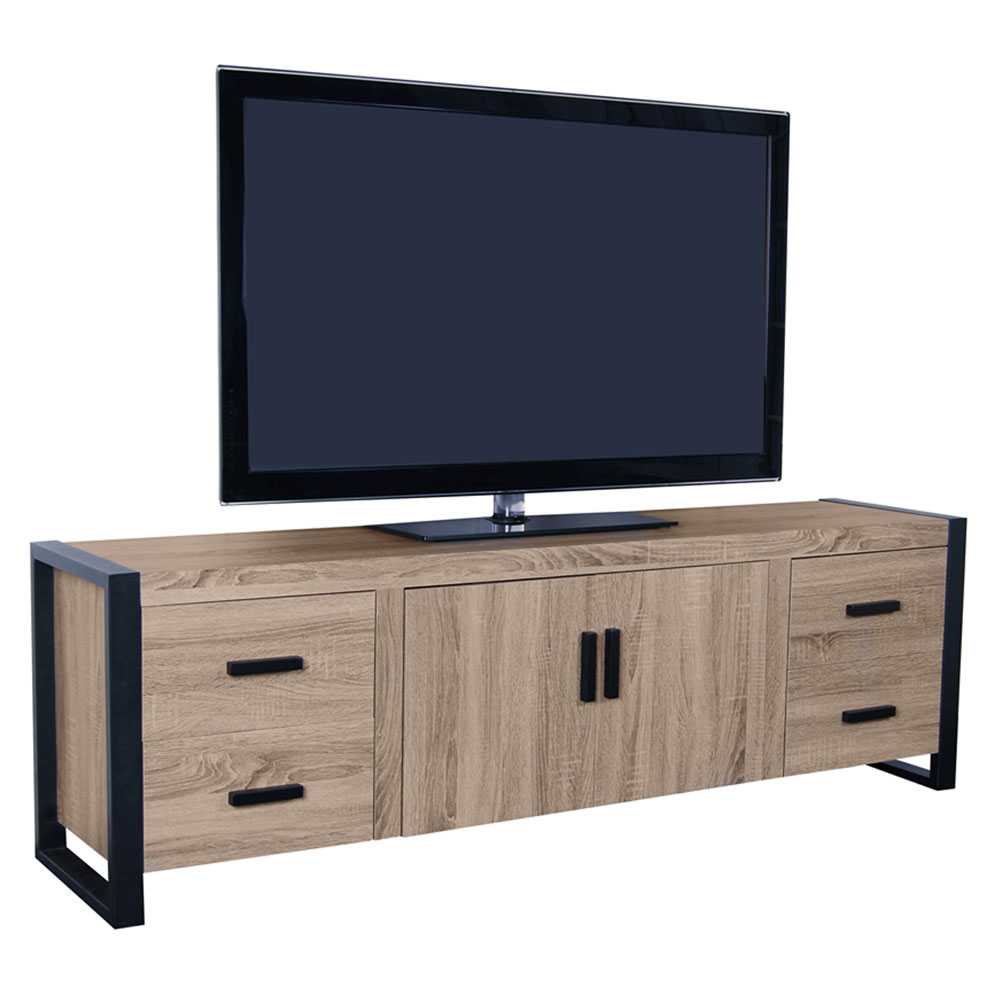 Reclaimed wood tv console inches in stands