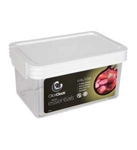 Rectangle Click Clack Canister - 1 Quart Image