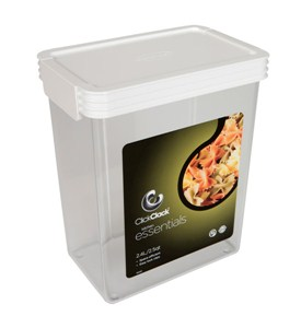 Rectangle Click Clack Canister - 2.5 Quarts Image