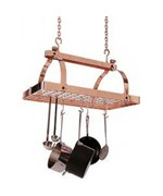 Rectangle Pot Rack - Copper