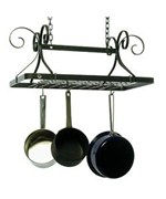 Rectangle Pot Rack - Hammered Steel