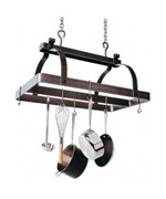 Rectangle Pot Rack with Center Bar