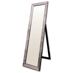 Rectangular Black With Pearl-Like Studs Floor Mirror by O.R.E. Image