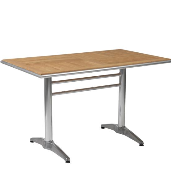 Rectangular Teak Slate Dining Table In Dining Tables