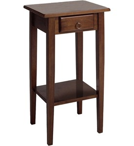 Regalia Accent Table With Drawer - Antique Walnut Image