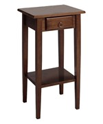 Regalia Accent Table With Drawer - Antique Walnut