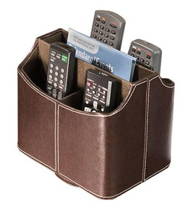 Spinning Remote Control Caddy - Brown Image