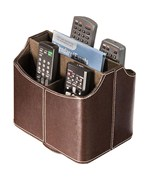 Spinning Remote Control Caddy - Brown