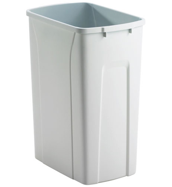 Replacement Plastic Waste Bin 35 Quart In Kitchen Trash Cans