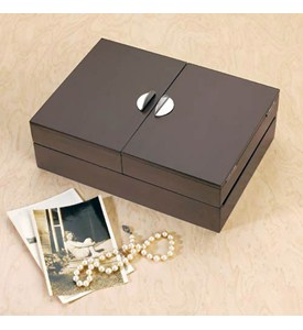 Wood Keepsake and Jewelry Storage Box - Espresso Image